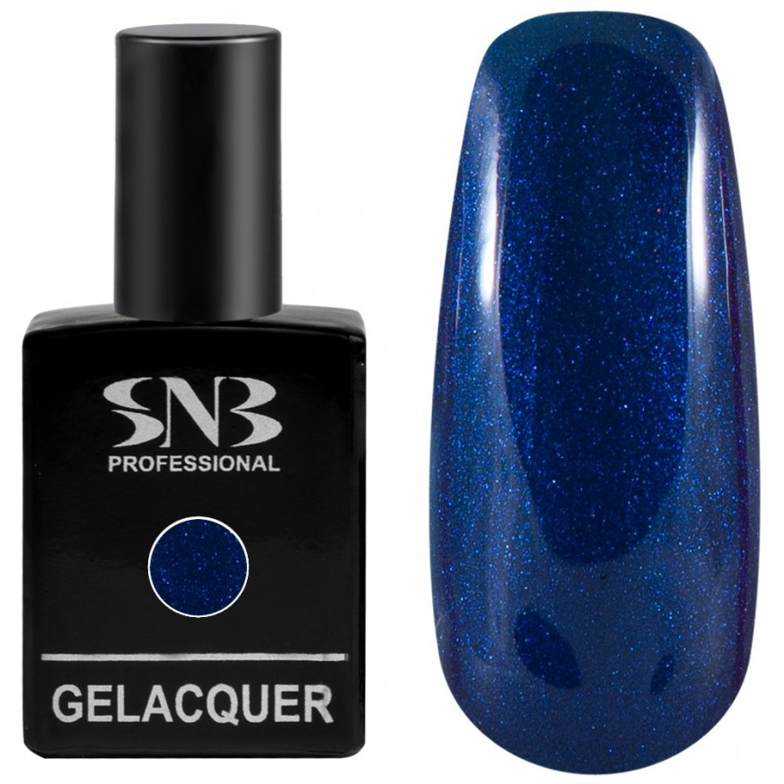 Pearl colors collection Gel lacquer SNB Professional color 067 Angella - dark blue