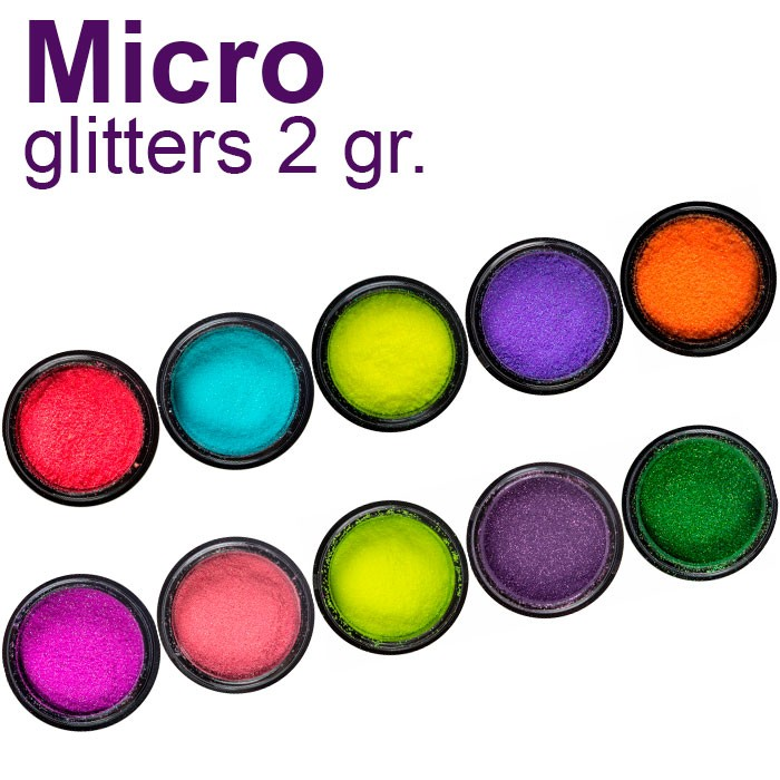 Micro glitter effects for nail polish - SNB Professional