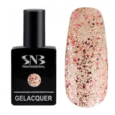 SNB Glitter 06 Rose, Silver - Gold 15 ml