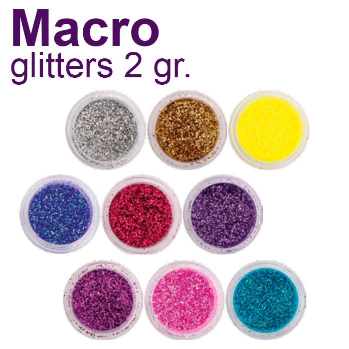 Macro Glitters 2 gr. for nail decoration