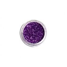 DEDLM37 Dark purple - macro glitter nail polish effect