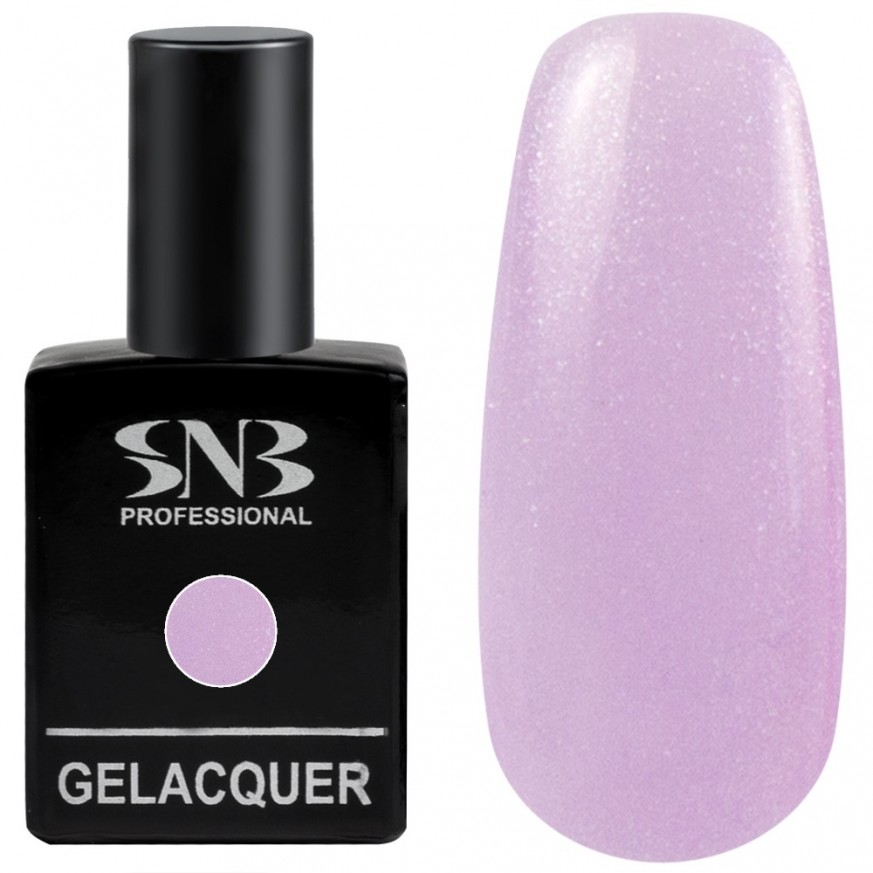 Pearl colors collection Gel lacquer SNB Professional color 155 Giselle - pale purple