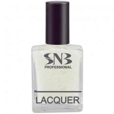 SNB nail polish Beloslava 17, white points and fringes