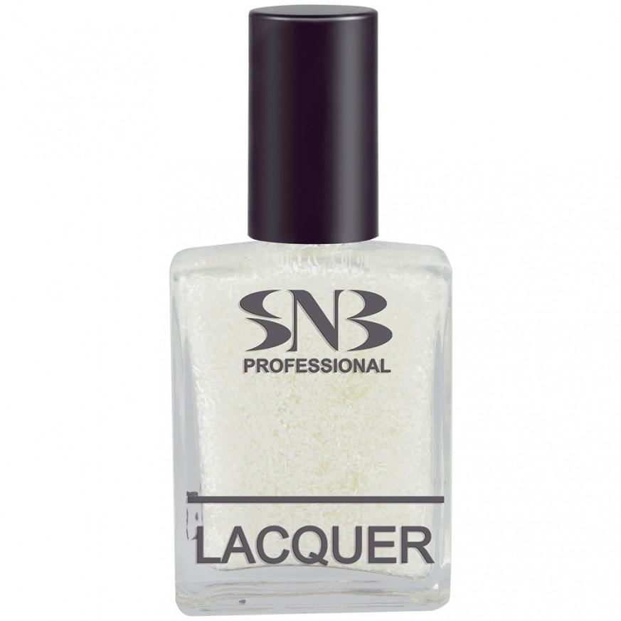 SNB nail polish Beloslava 17, white points and fringes