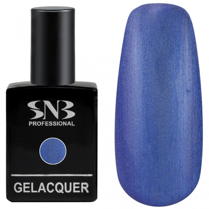 Pearl colors collection Gel lacquer SNB Professional color 101 Yolanda - intense blue